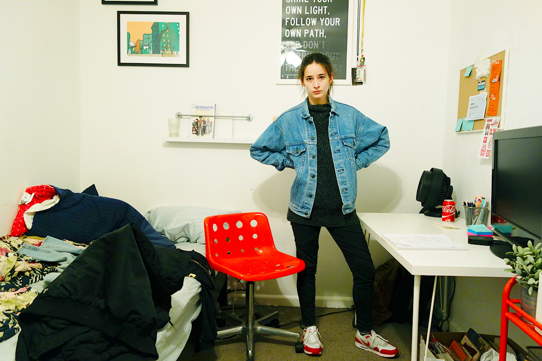 Favorites in this photo: My chair: from when I was 14, My Jean Jacket: It's really soft somehow, and my NIKE AIR MAX SHOES: Thank you Nike and Tinker Hatfield for making these.
