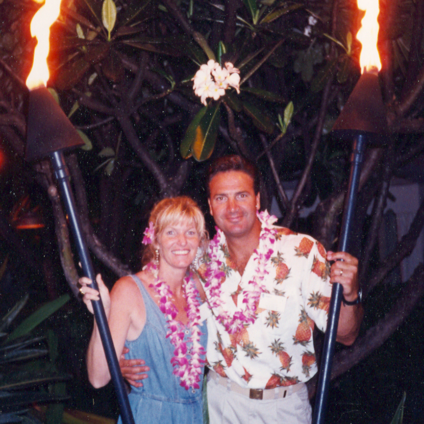 Leah & Joe looking through torches - Maui.jpg