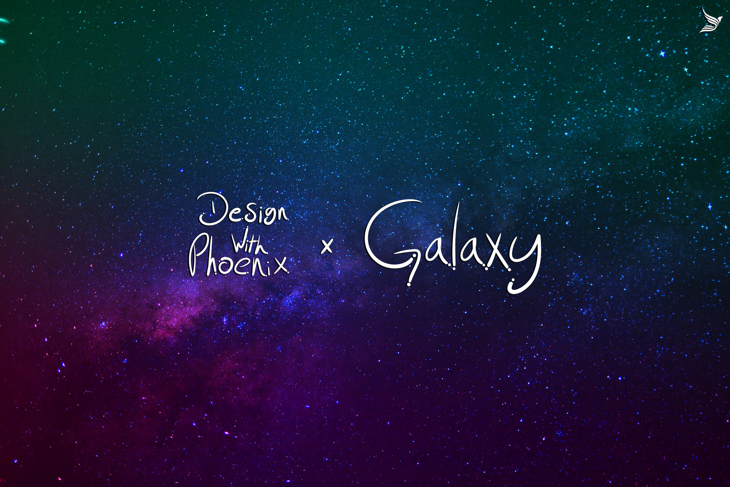 Stock Image of a Galaxy and the word Galaxy on top. With color play gradient setup.