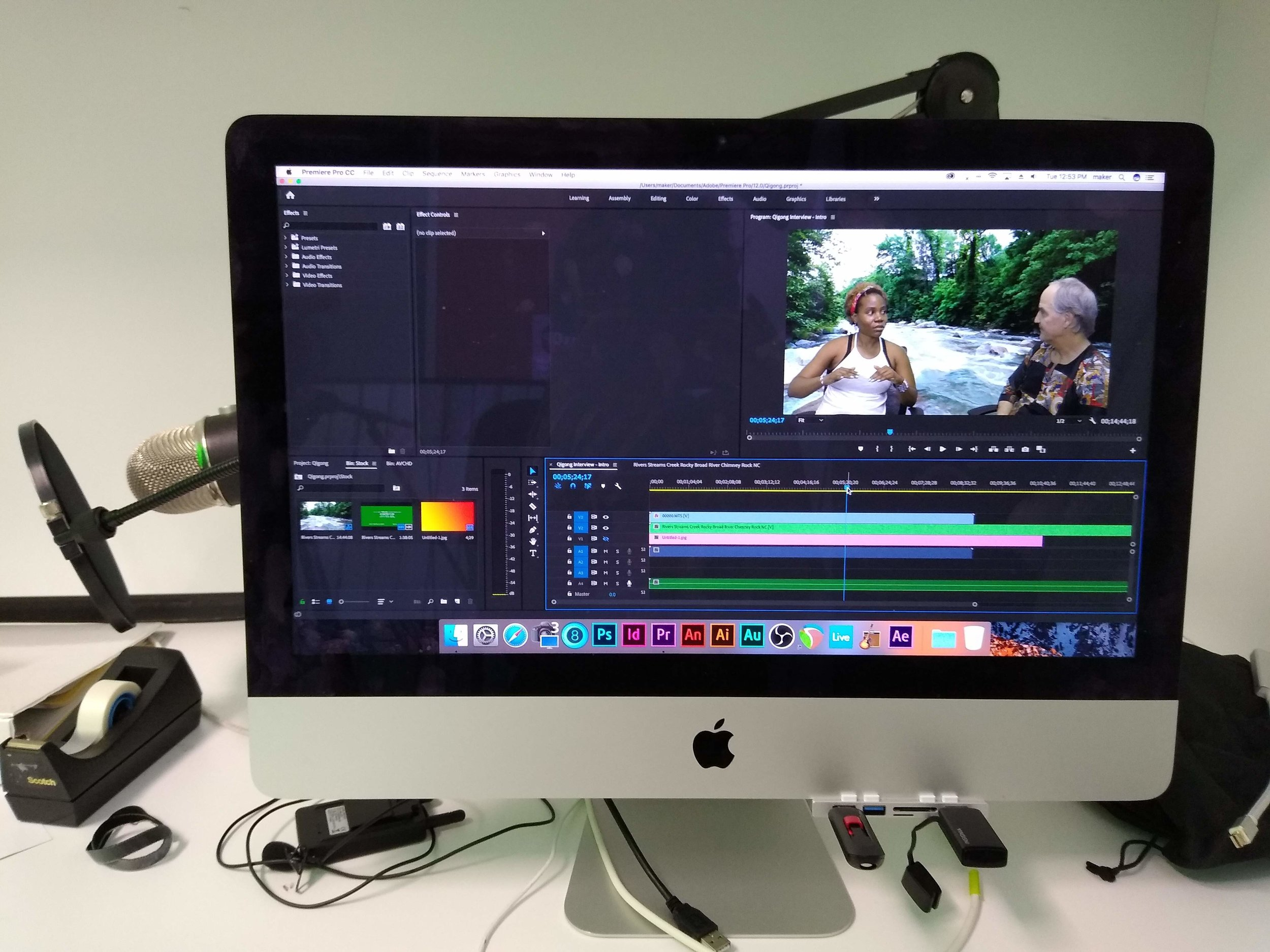 Image of using Adobe Pr