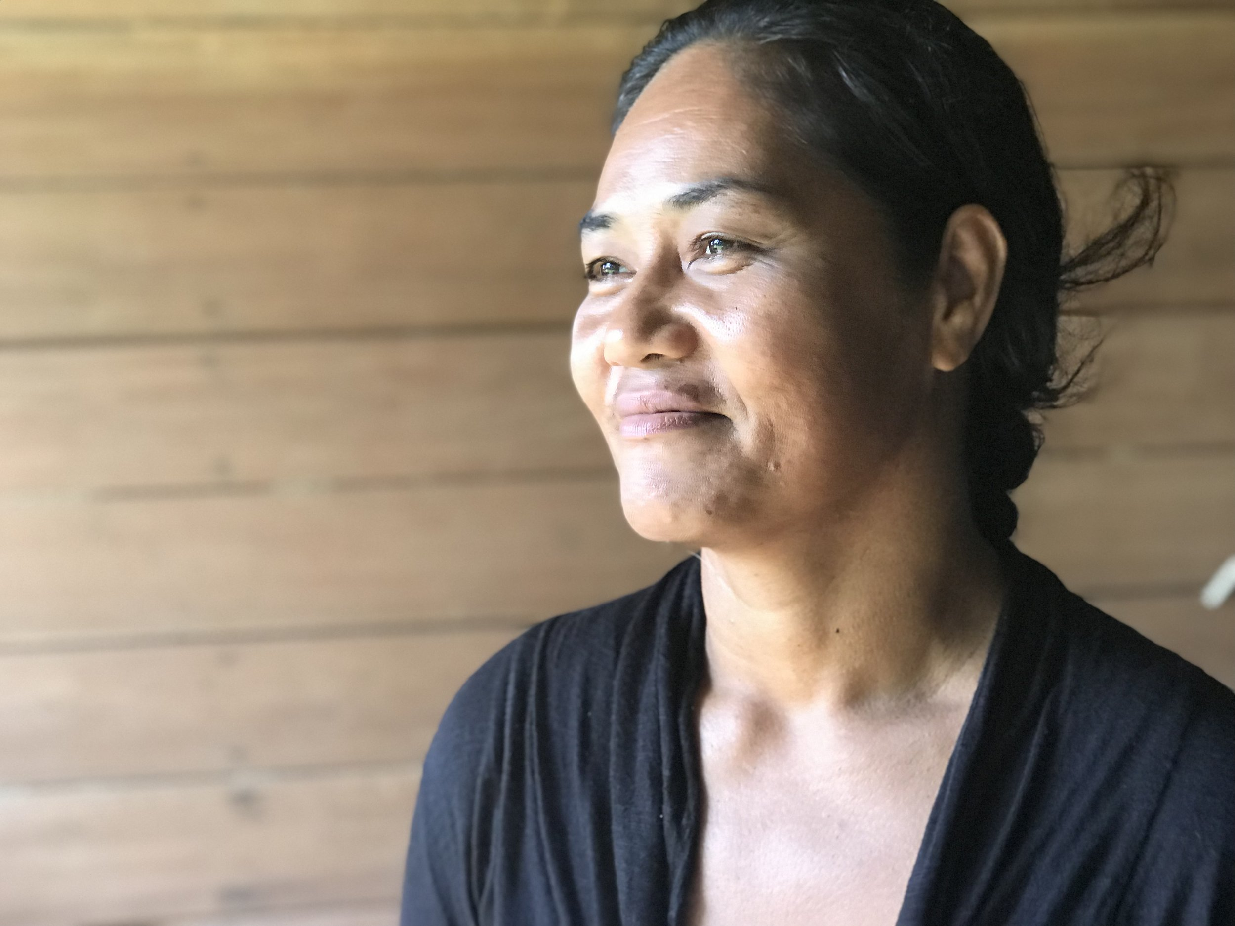 "Stephanie from Tigoa is worried about how climate change is undermining the reliability of traditional knowledge.  ""We can't trust the kastom guidance anymore because the weather is so volatile."" She does what she can to pass on traditional Polynesian methods of gardening and weaving, but she thinks that it'll become more difficult to preserve in the future if her island continues to adopt modern ways and others leave for work in Honiara and further afield.   The project is trying to fill the gap of climate information in Tigoa by providing regular weather updates with data on rainfall patterns, made possible by a project supported installation of a remote satellite monitored weather station, so people can plan their fishing, gardening and water usage."