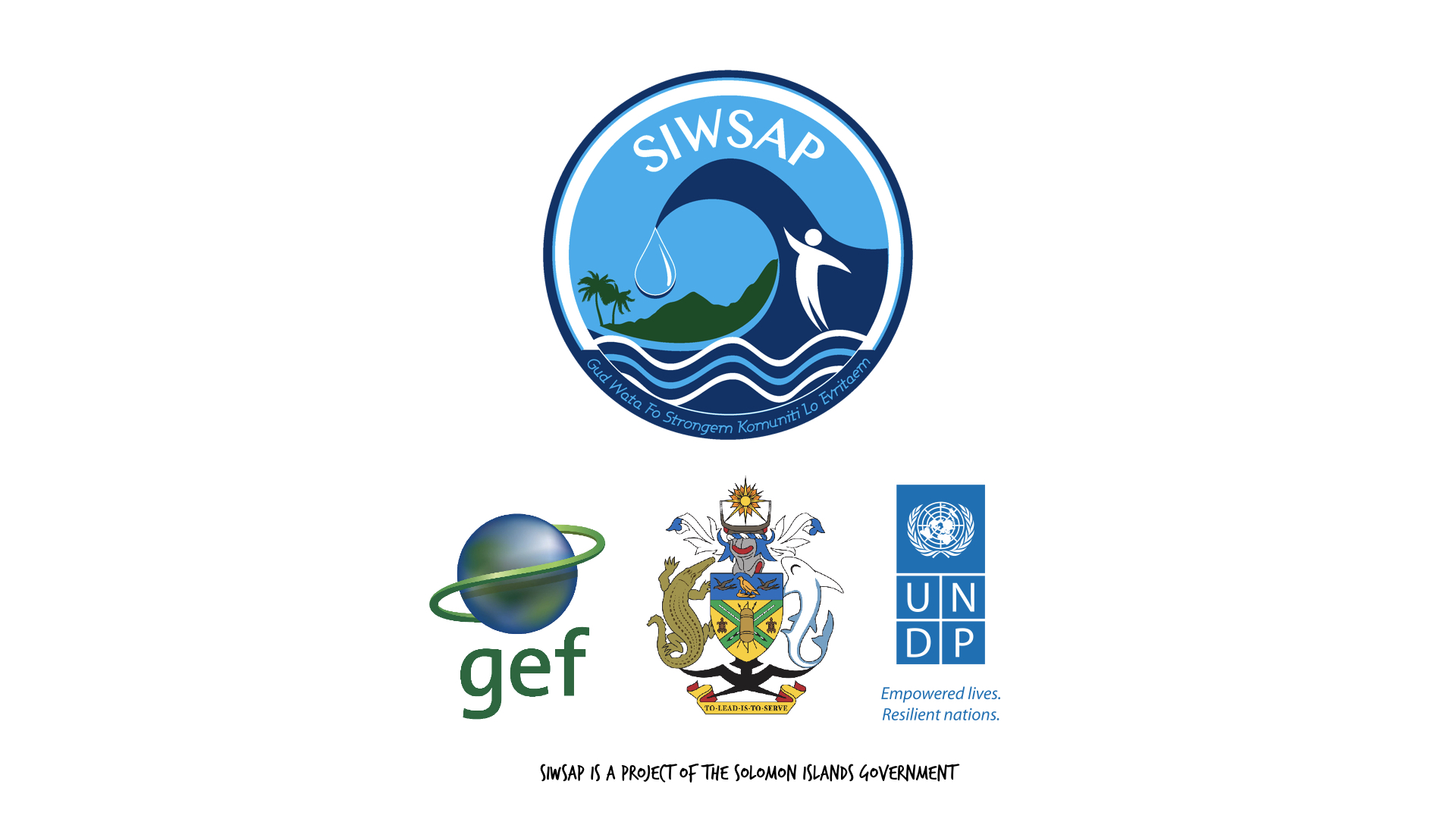 """*The Solomon Islands Water Sector Adaptation Project, """"Gud Wata Fo Strongem Komuniti Lo Evritaem"""", is funded by the GEF-Least Developed Countries Fund and implemented by the Water Resources Division of Ministry of Mines, Energy and Rural Electrification with technical support from the United Nations Development Programme. The project aims to improve the resilience of water resources to the impacts climate change and improve health, sanitation and quality of life, so that livelihoods can be enhanced and sustained in the targeted vulnerable areas.   Hydro Met stations installed under the project were led by Solomon Islands Met Service and NIWA of New Zealand and are part of the overall national CLEWS. SIWSAP exists at the request of the Solomon Islands Government and in line with current national development plans. UNDP implements SIWSAP on behalf of the Solomon Islands Government.   To find out more, go to: http://siwsap.org.sb/"""