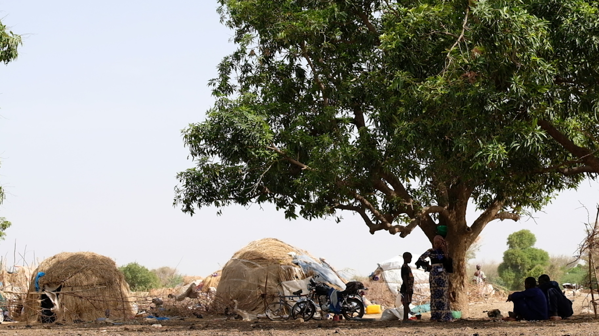 A fulani camp of displaced people outside of Mopti. The nomadic people are struggling with the challenges of displacement and they are far from their traditional grazing lands but they have sought safety after the rise in deadly raids on villages in the region.