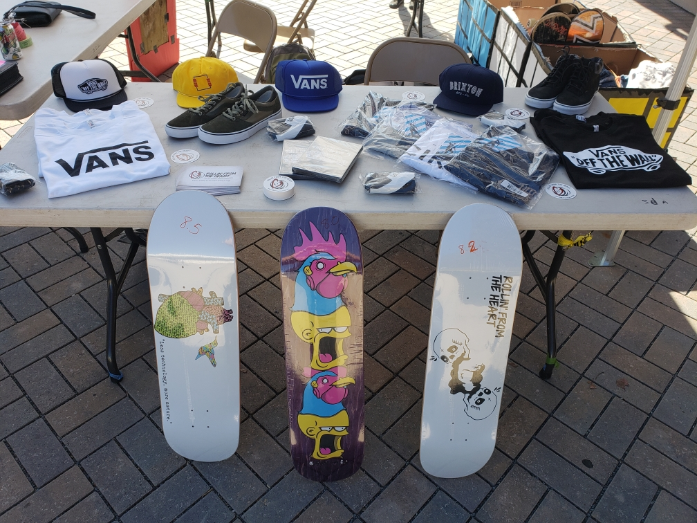 SDA Ramp Up Skate Demo - November 2018San Dieguito Academy had a skate demo where they collected donations for our organization. We raffled off our boards and donations from Vans.
