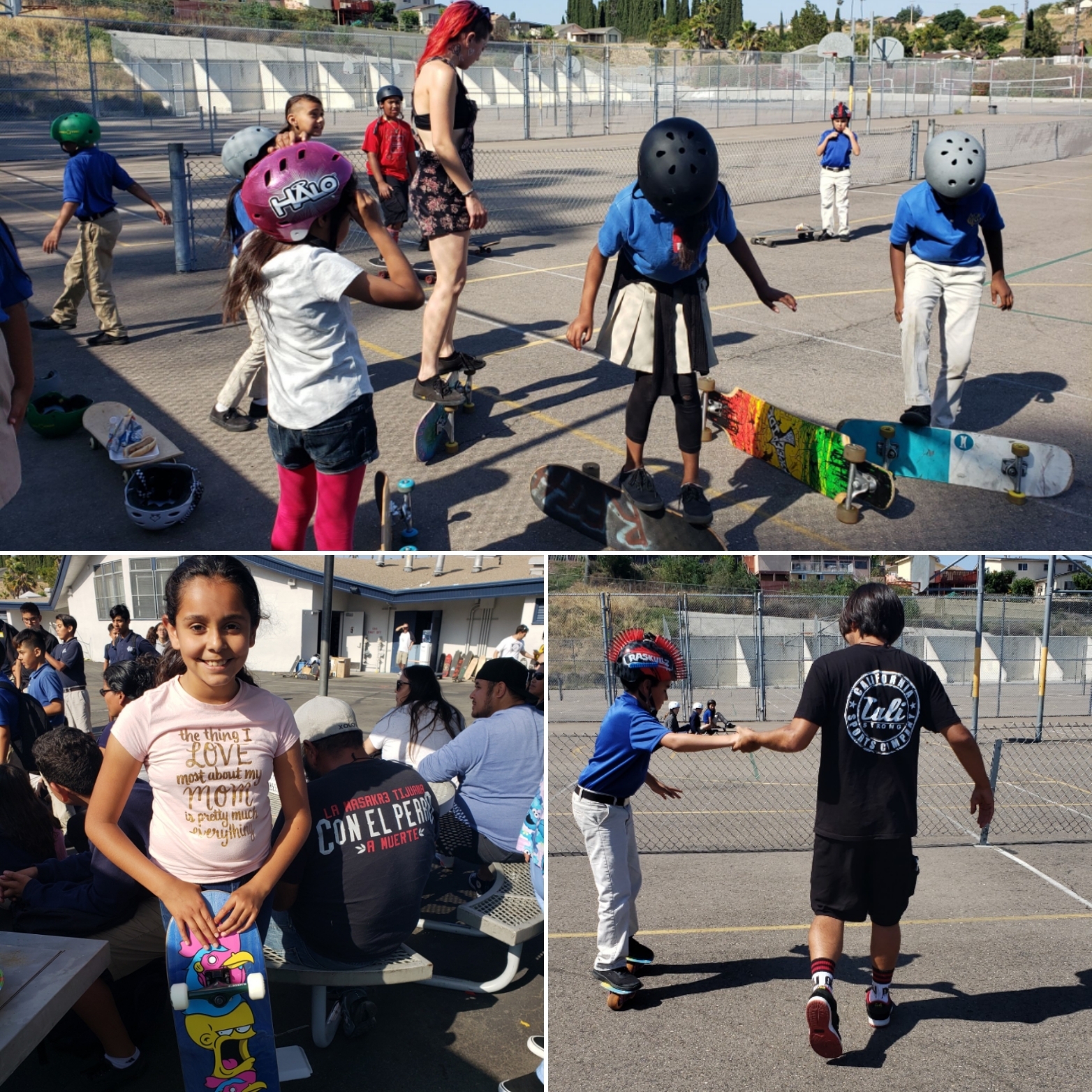 Keiller End of Year Party & Skate Demo - June 2019We celebrated the end of the school year at Keiller Leadership Academy by having a group of local freestyle skateboarders do a demo and teach our kids different ways to skate. We also had a BBQ and raffle giveaway.