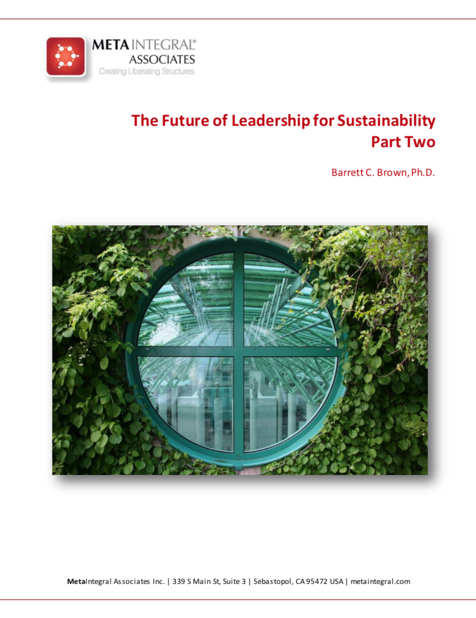 The future of leadership for sustainability - part 2 - This part of the article describes high-impact sustainability leaders who have cultivated advanced capacities of mind and heart, lighting the way for the rest of us.