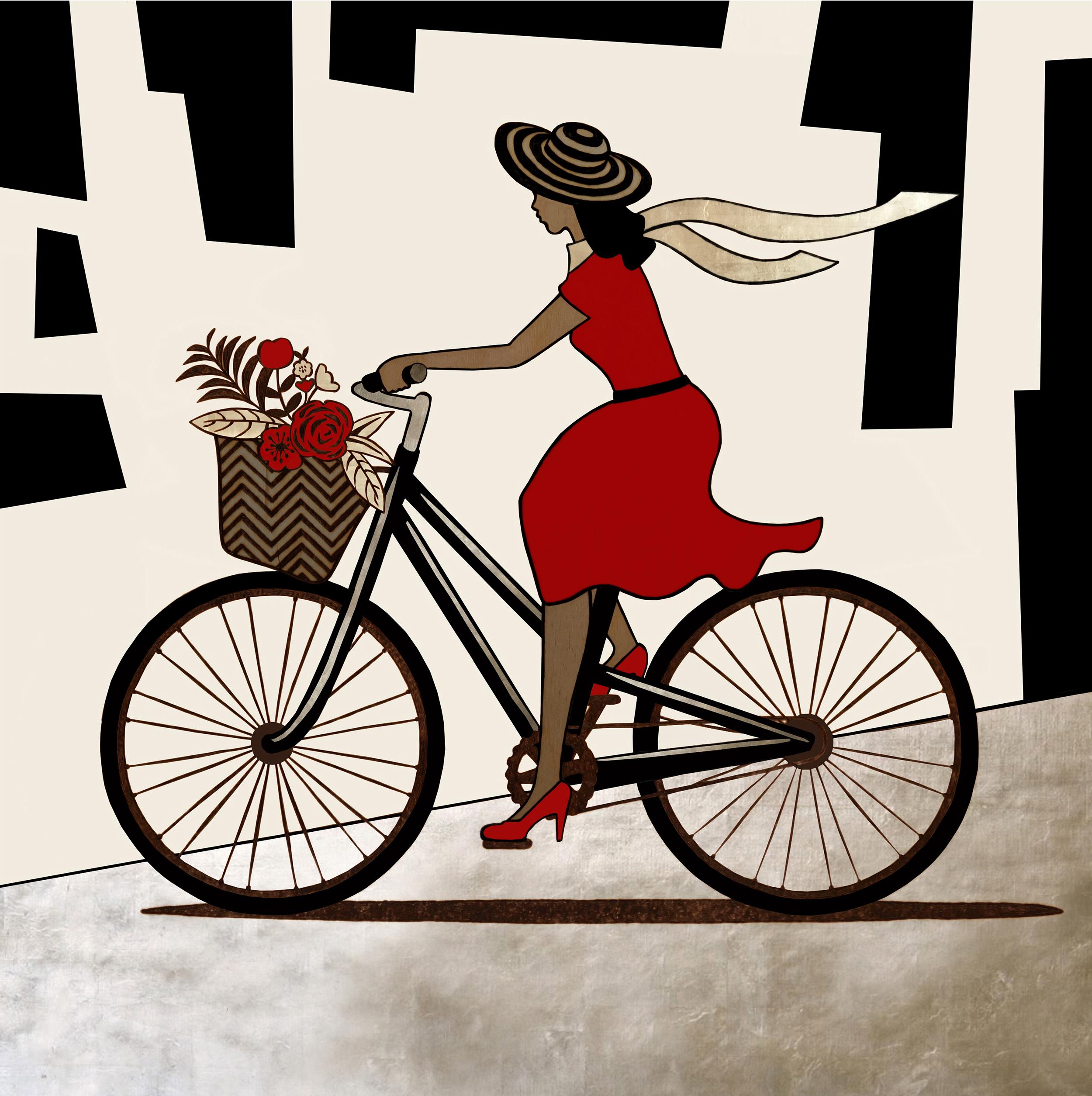 Fancy Woman on Bike – Scarf