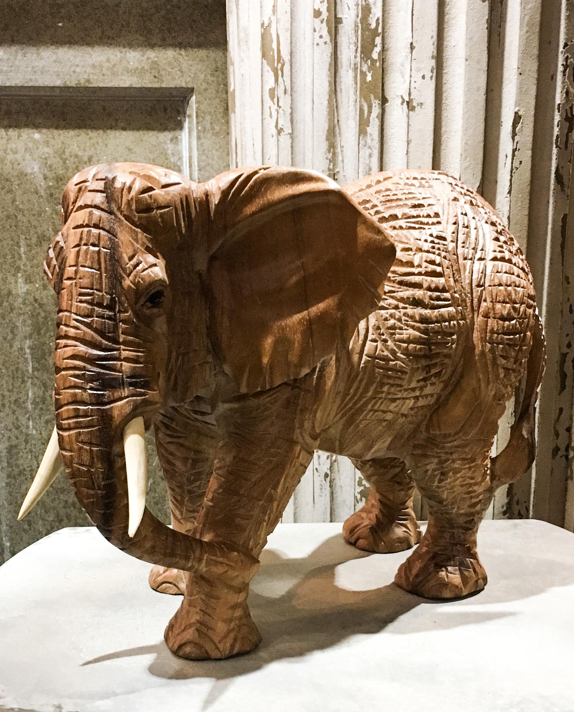 hand carved elephant figure.JPG