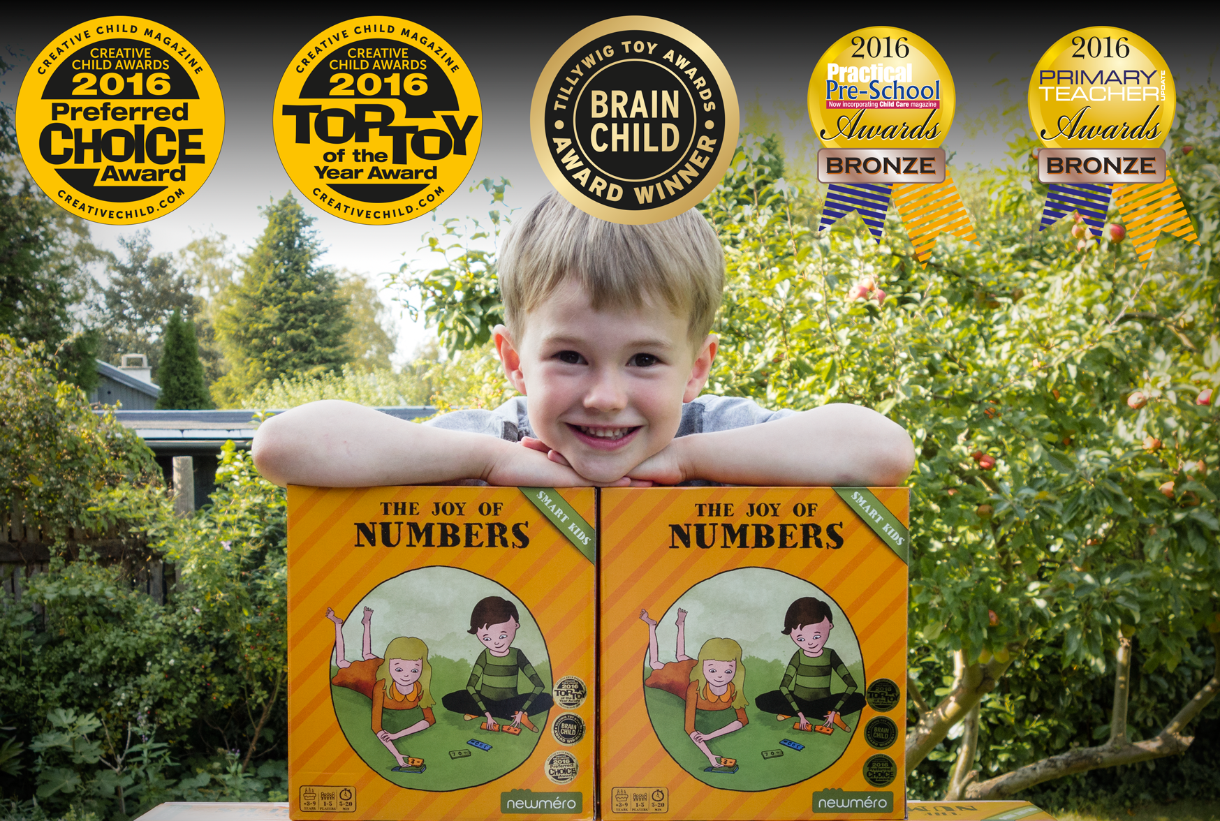 The Joy of Numbers received 6 Toy Awards in 2016