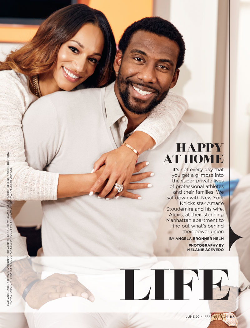 At home with Amare Stoudemire