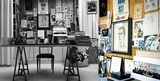 Yves Saint Laurent's Inspirational Work Space