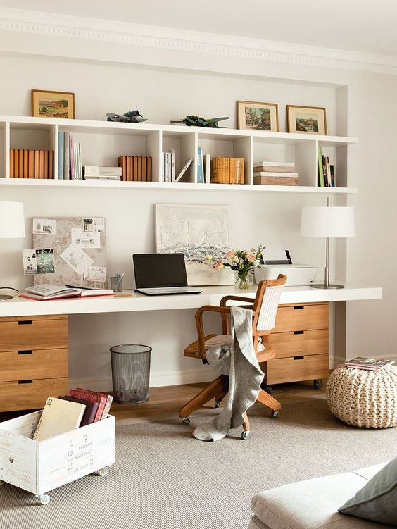Simple storage and organised work space