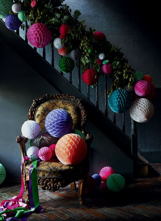 Beautiful fun selection of paper globes - credit Sarah Kaye