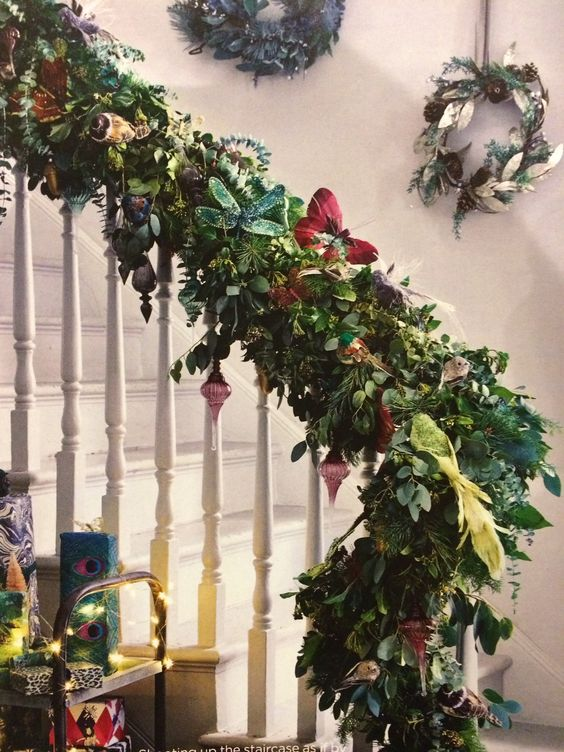 Butterflies and birds hidden in this staircase image from Living Etc.