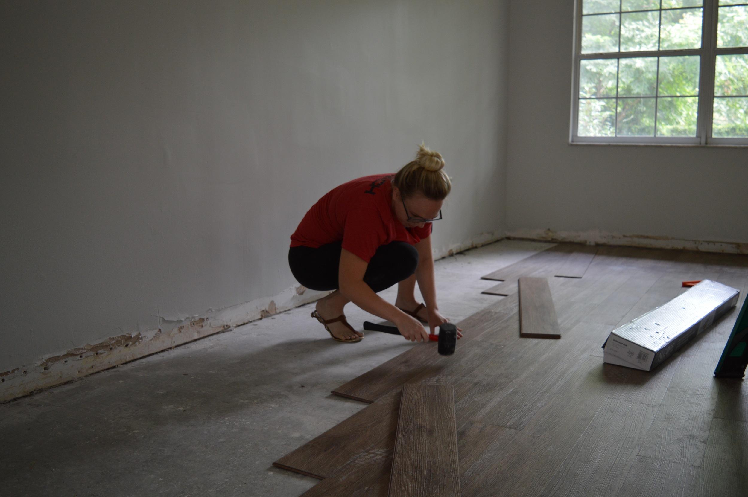 Nucore Vinyl Flooring in Driftwood