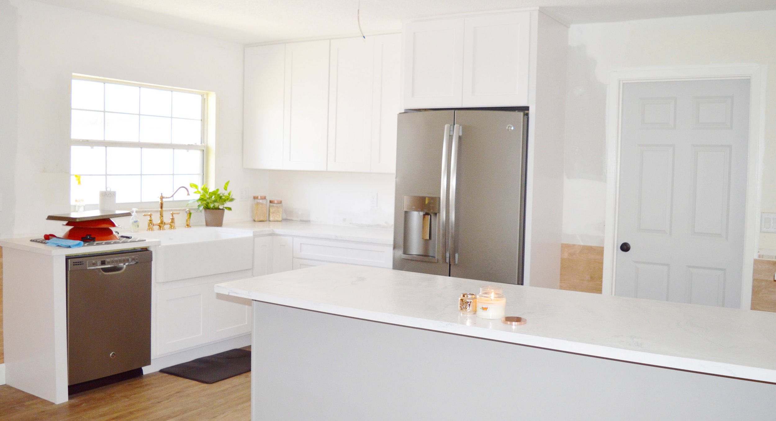 Our Slate Appliances in action when we first moved in!