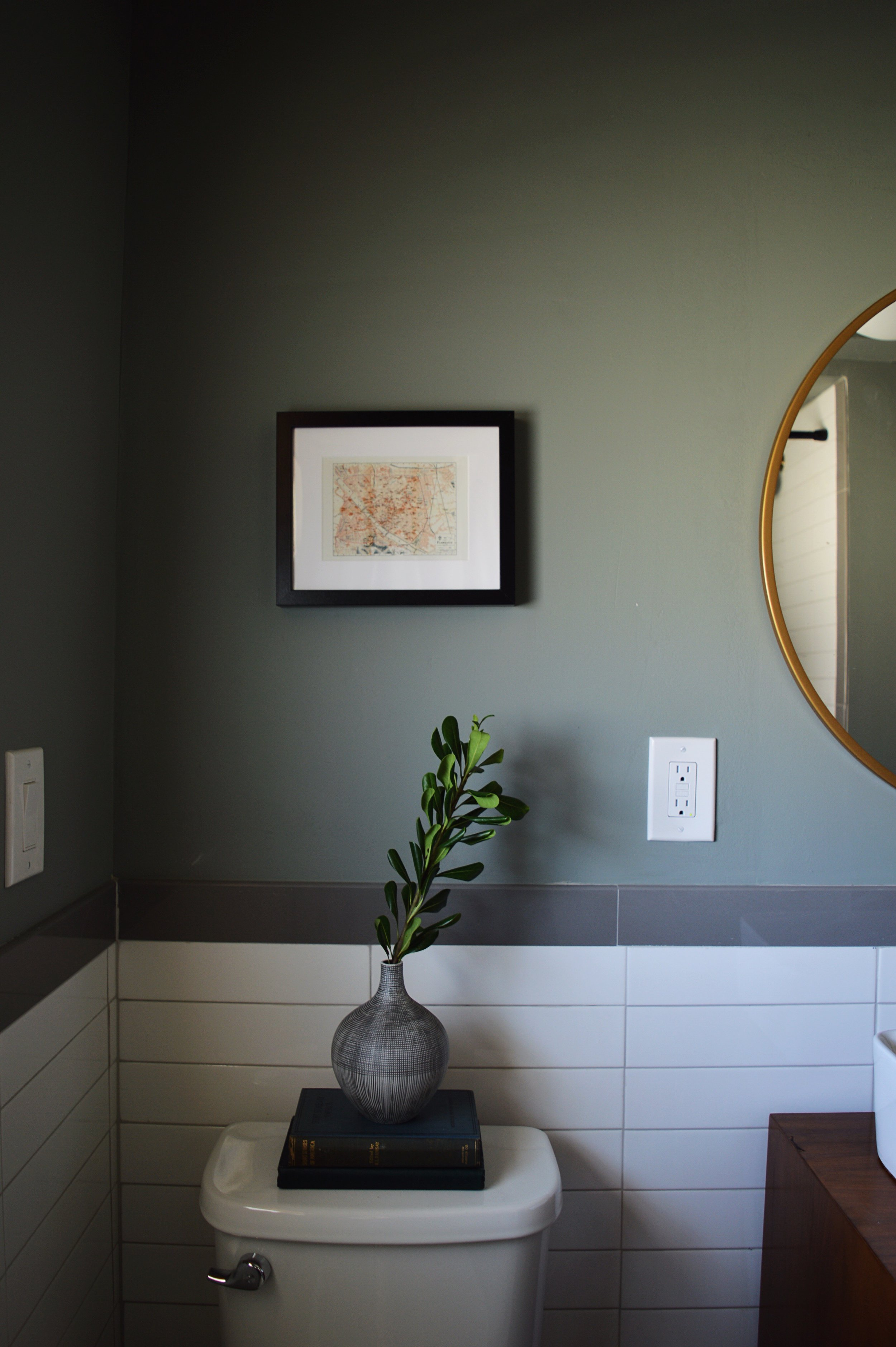 Mid century guest bathroom renovation
