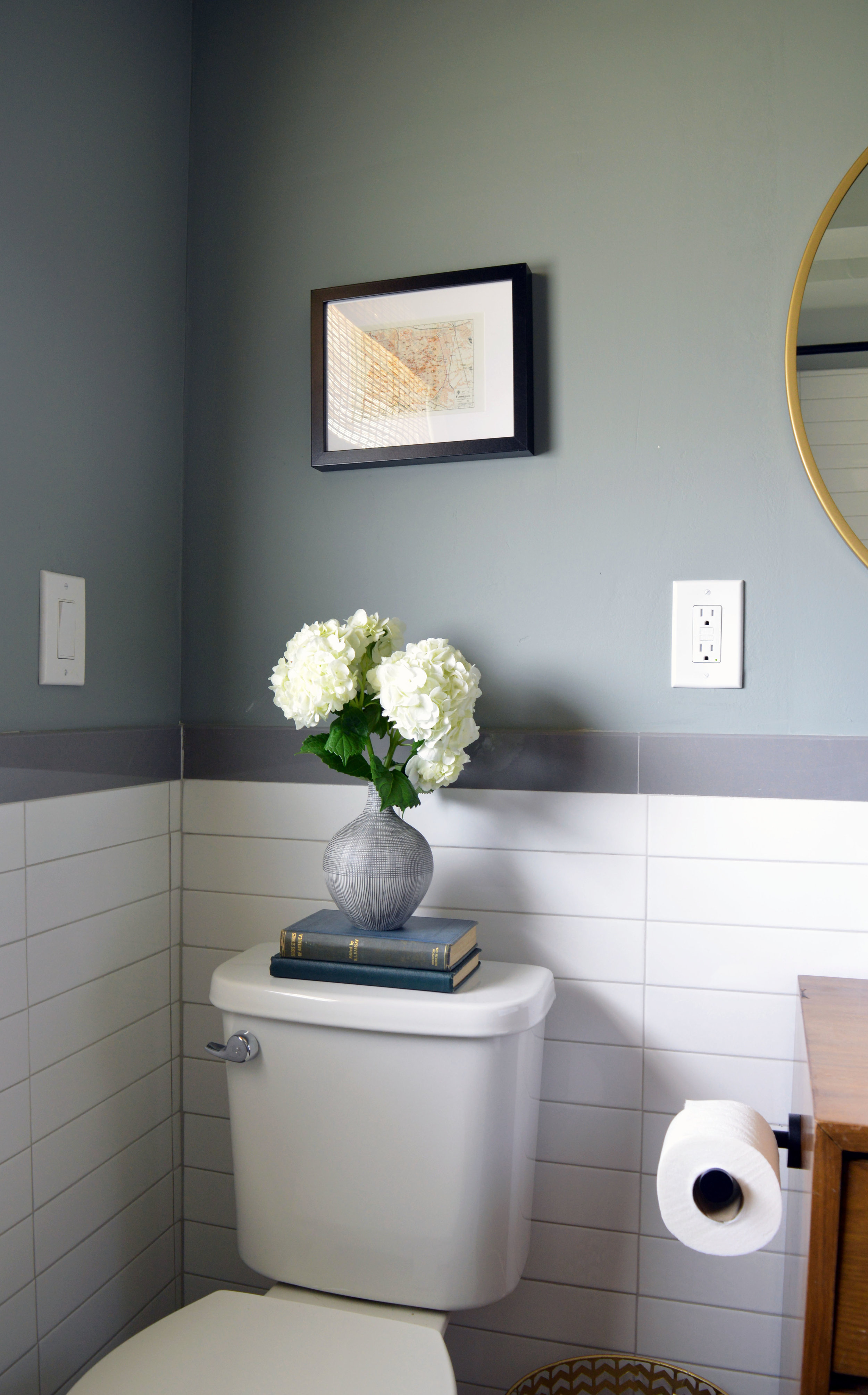 Midcentury Bathroom Renovation with Plants