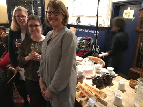 Emma Darwin, Ruth Ware & me,seemingly in charge of the chocolate.