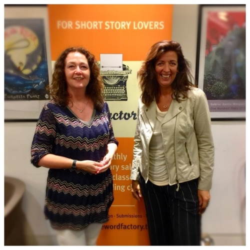 Word Factory founder & director,Cathy Galvin with Louise Doughty.