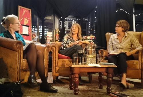 Emma Darwin, Jill Dawson & me,Kellie (photo by Frances Owen)