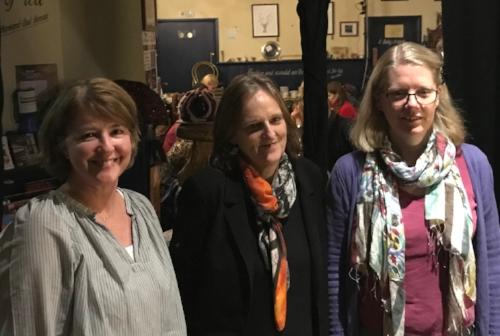 With Tessa Hadley (centre)& Emma Darwin (right).