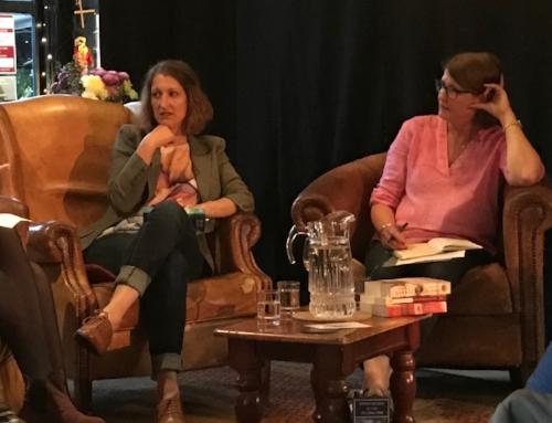 With Julie Cohen, left