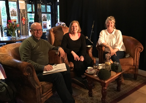 With Andrew Wille and guest writer Antonia Hodgson (centre)