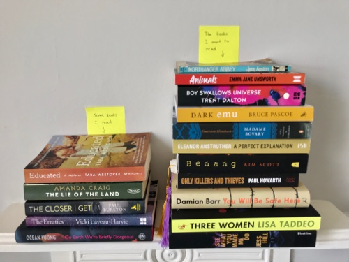 Actual books read this August versus the many books I hoped to read.