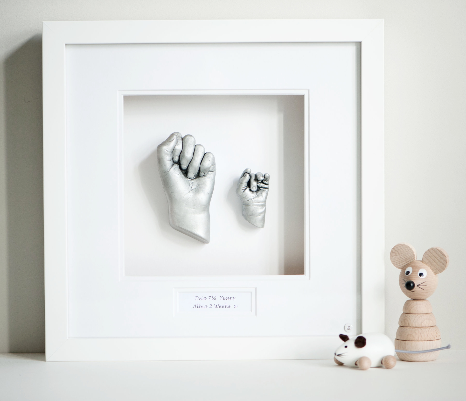 Sibling Hand Castings - White frame - from £135.00