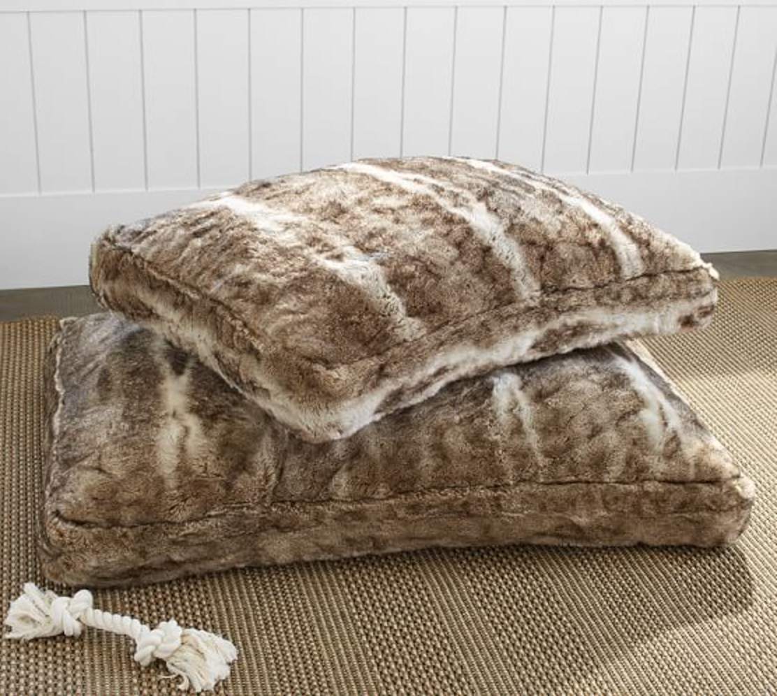 Pottery Barn Faux Fur Pet Bed Cover