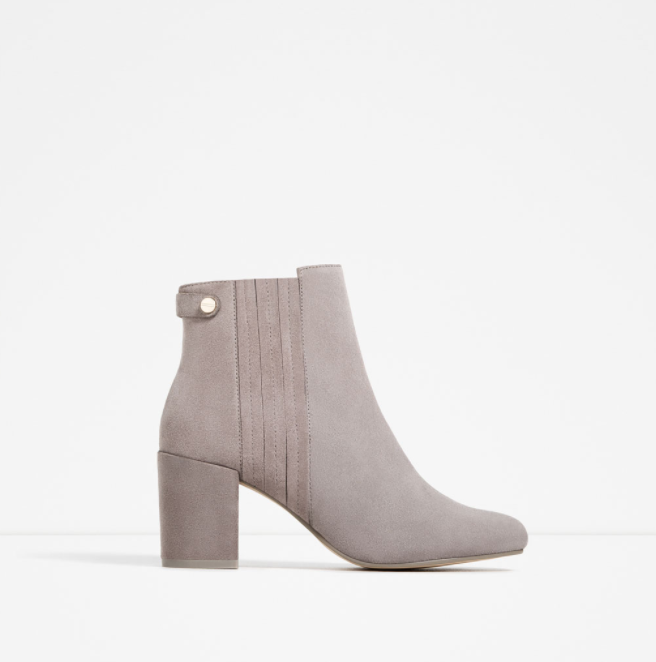 ELASTIC SPLIT-SUEDE ANKLE BOOTS