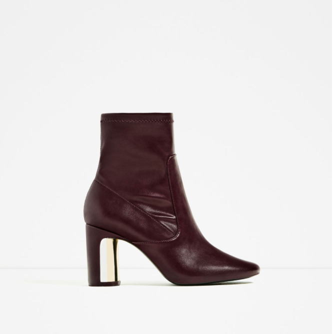 HEEL DETAIL ANKLE BOOTS