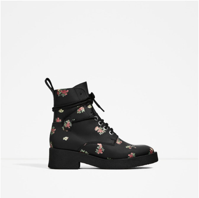 PRINTED LEATHER ANKLE BOOTS