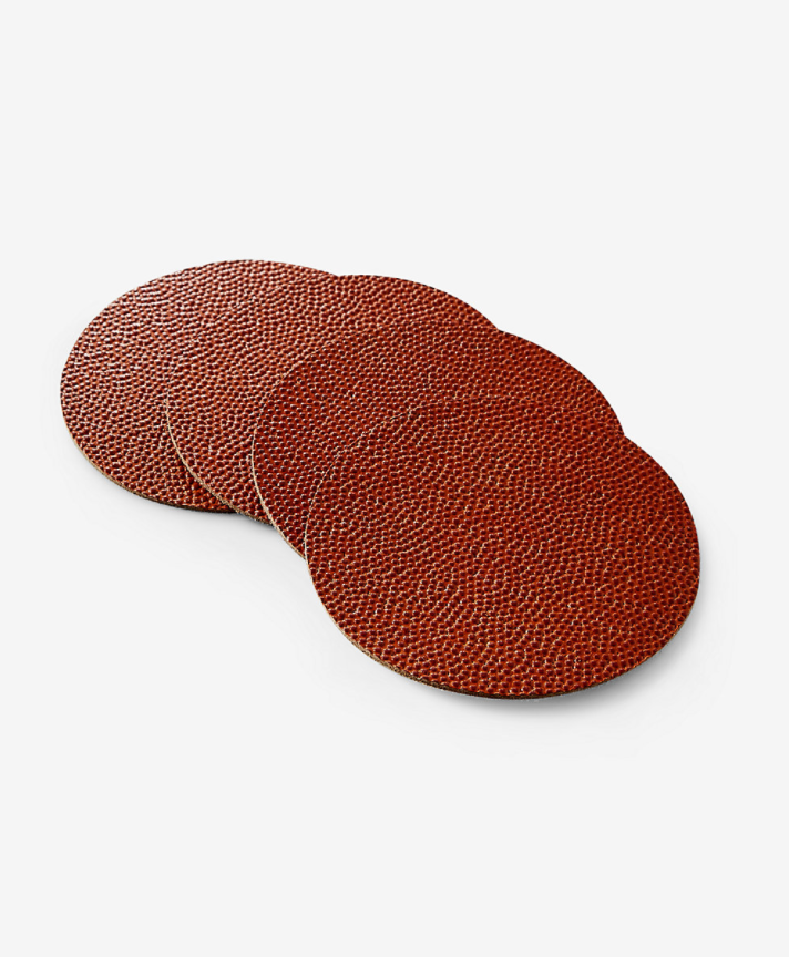 Owen & Fred Basketball Leather Coasters