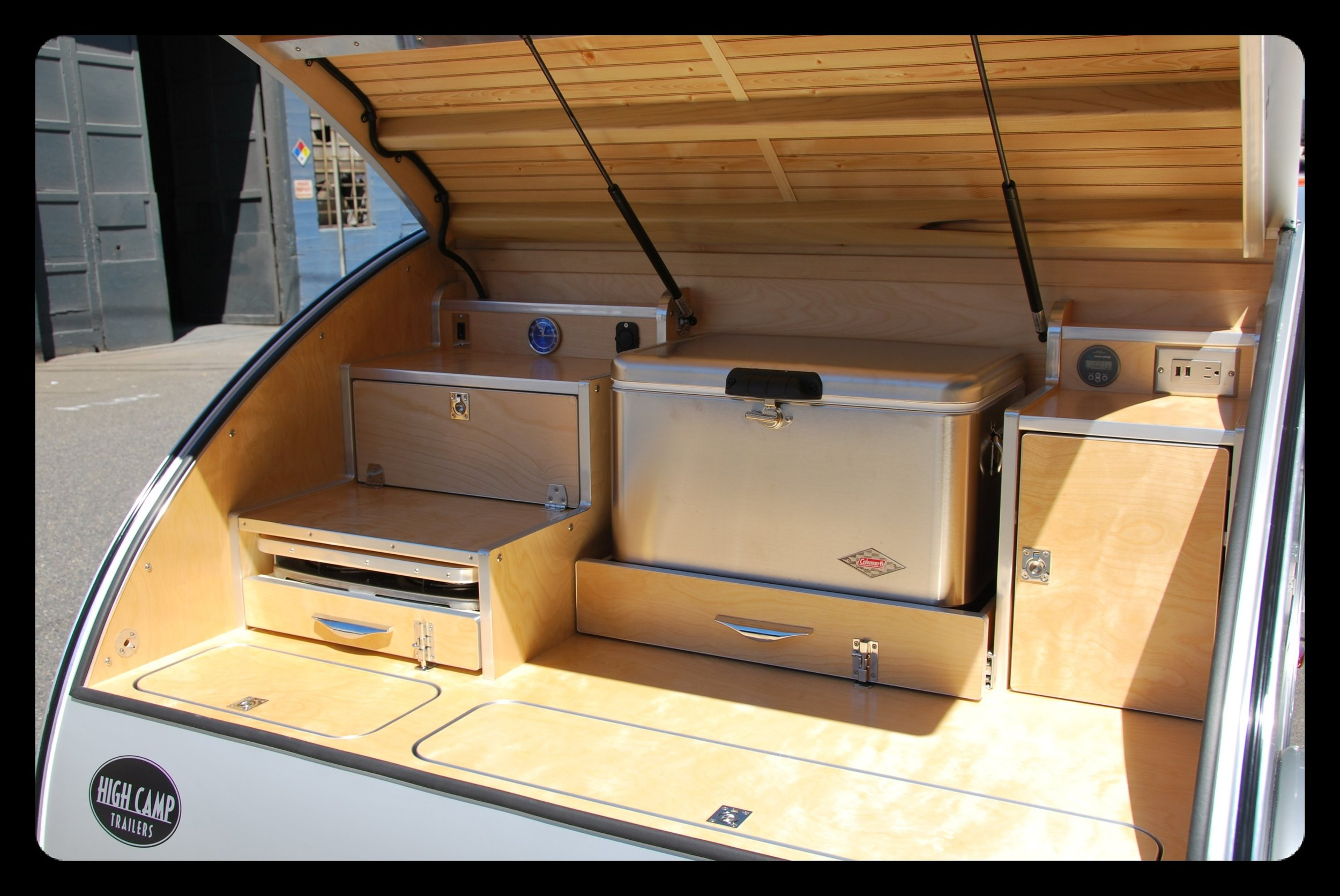 Trailer Galley Images High Camp Trailers Compact Camping Teardrop Trailers