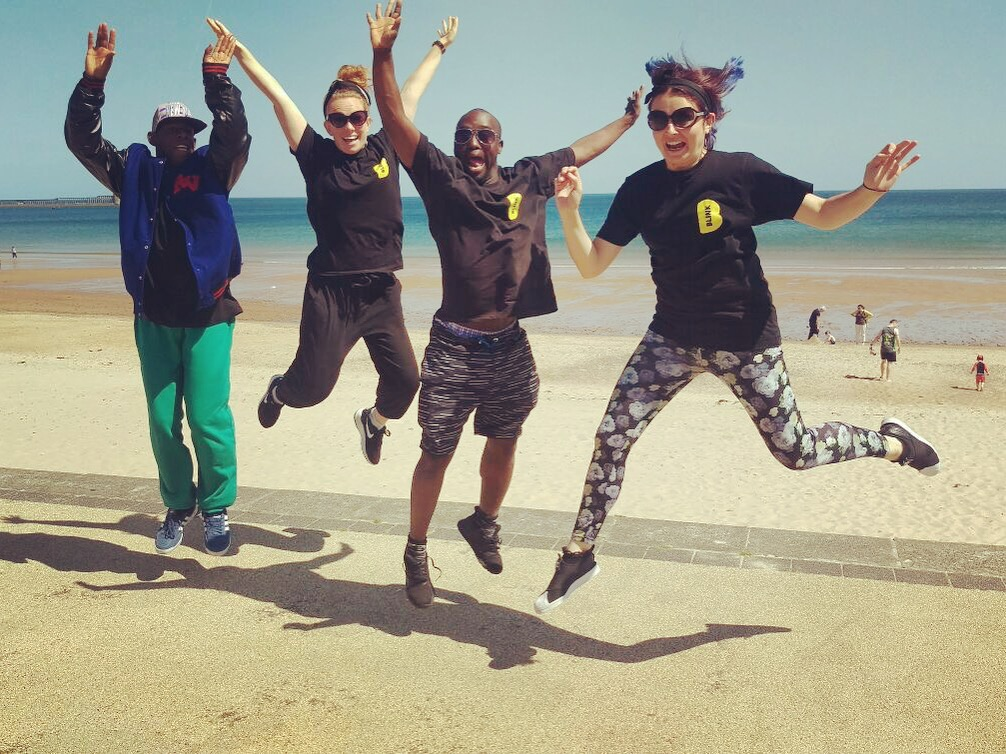 Delson, Rachel, Francis and Vicki on the beach