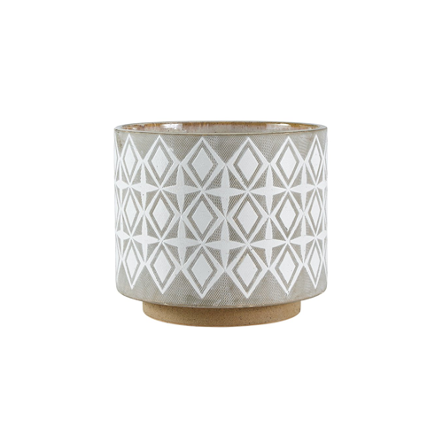 Geometric Rivet Ceramic Planter Plant Pot