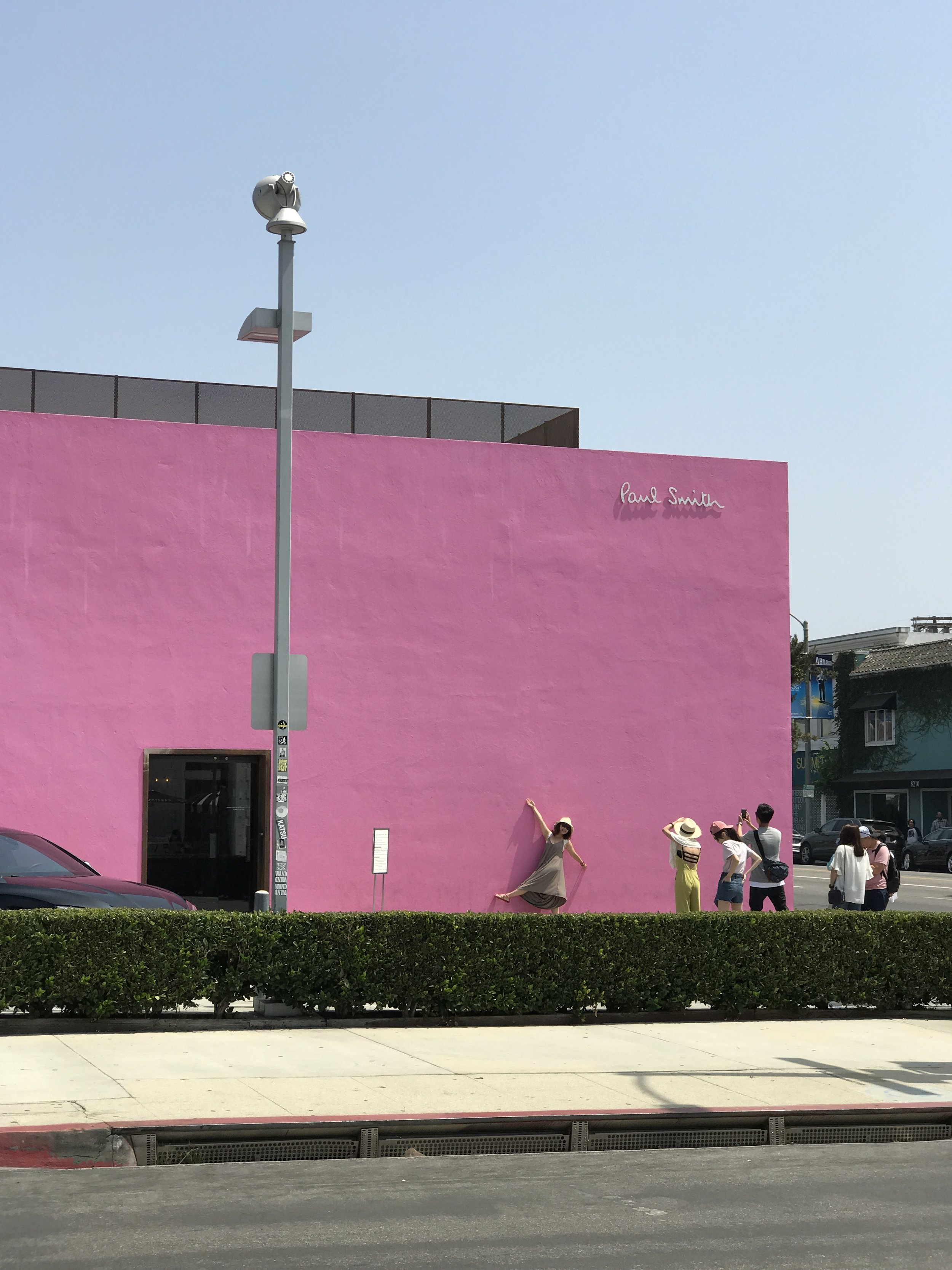 Paul Smith Pink Wall Building Instagram Photo Spot