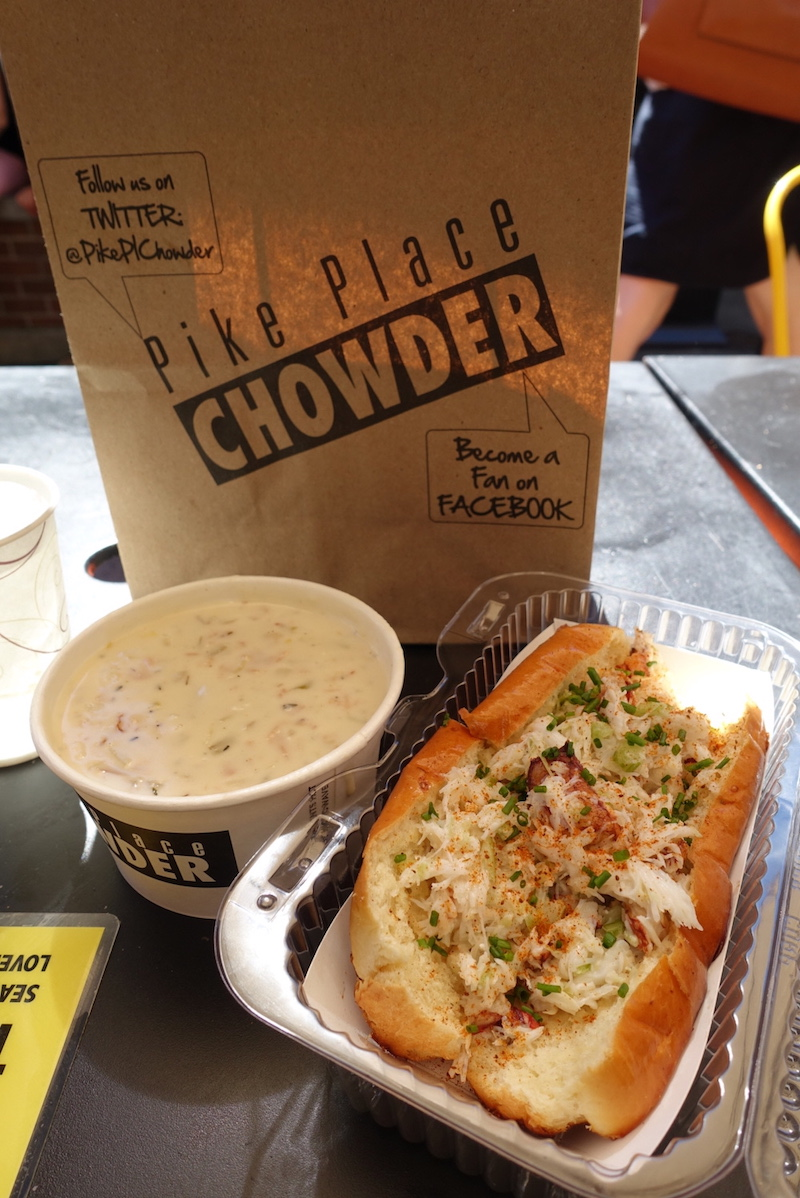 Pike Place Chowder - New England Clam Chowder & Lobster Roll