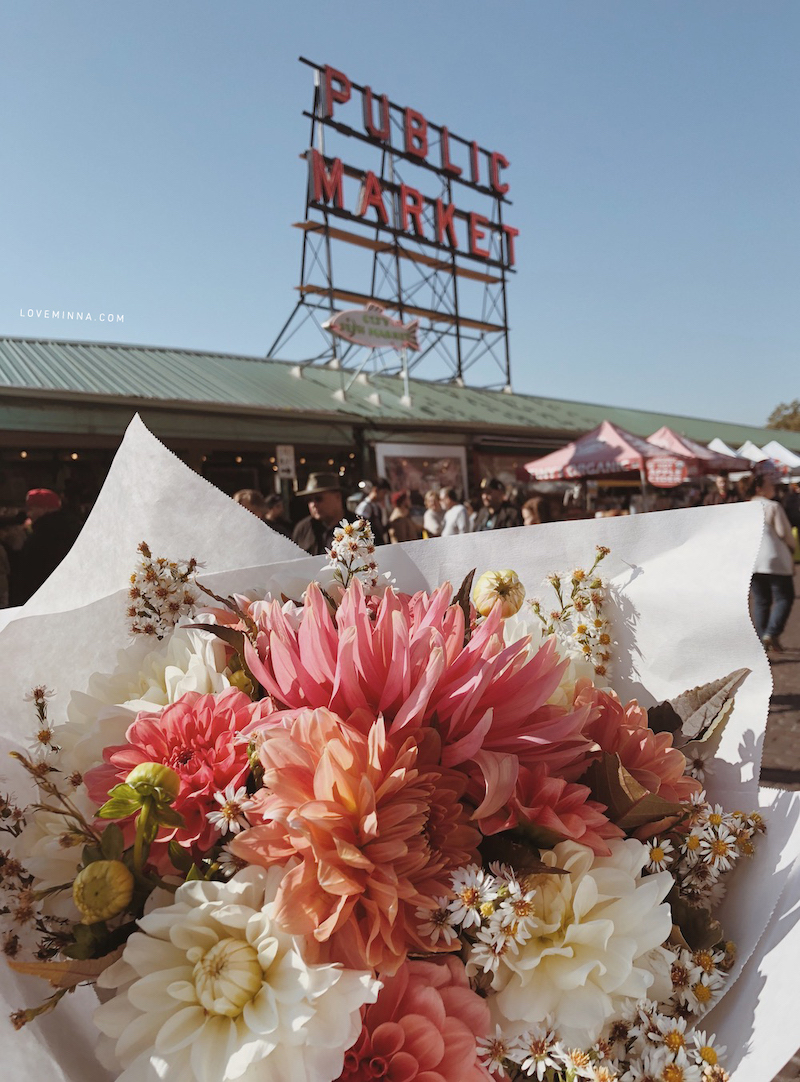 Flowers from Pike Place Market