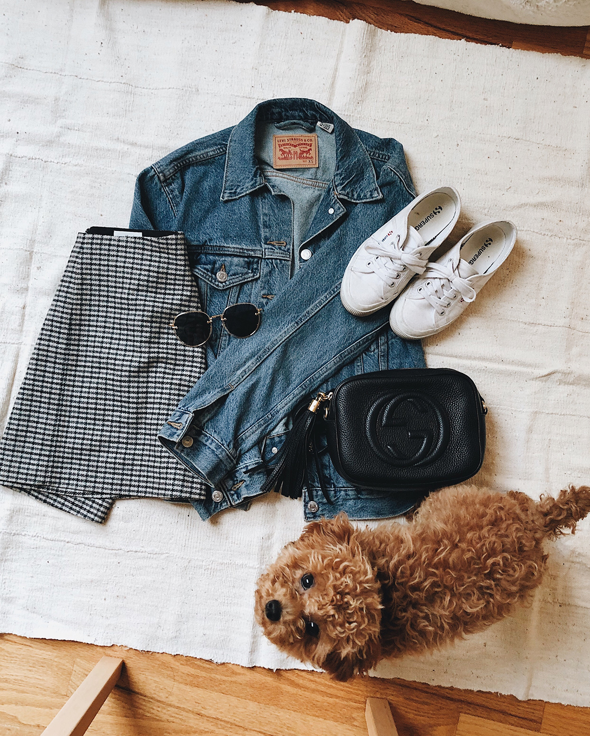 Mini Skirt Denim Jacket Gucci Soho Outfit