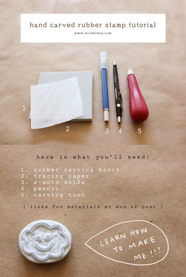 diy hand carved rubber stamp tutorial