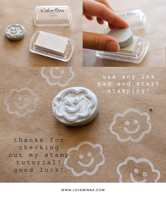 diy hand carved rubber stamp linocut tutorial