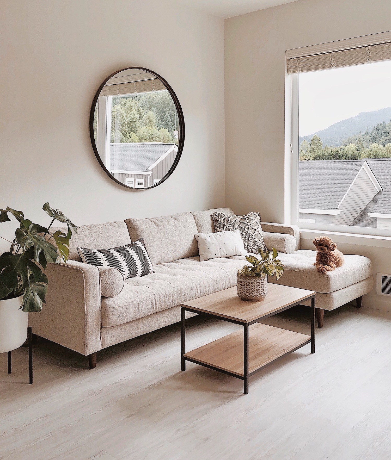 Article Sven Sectional Sofa in Birch Ivory