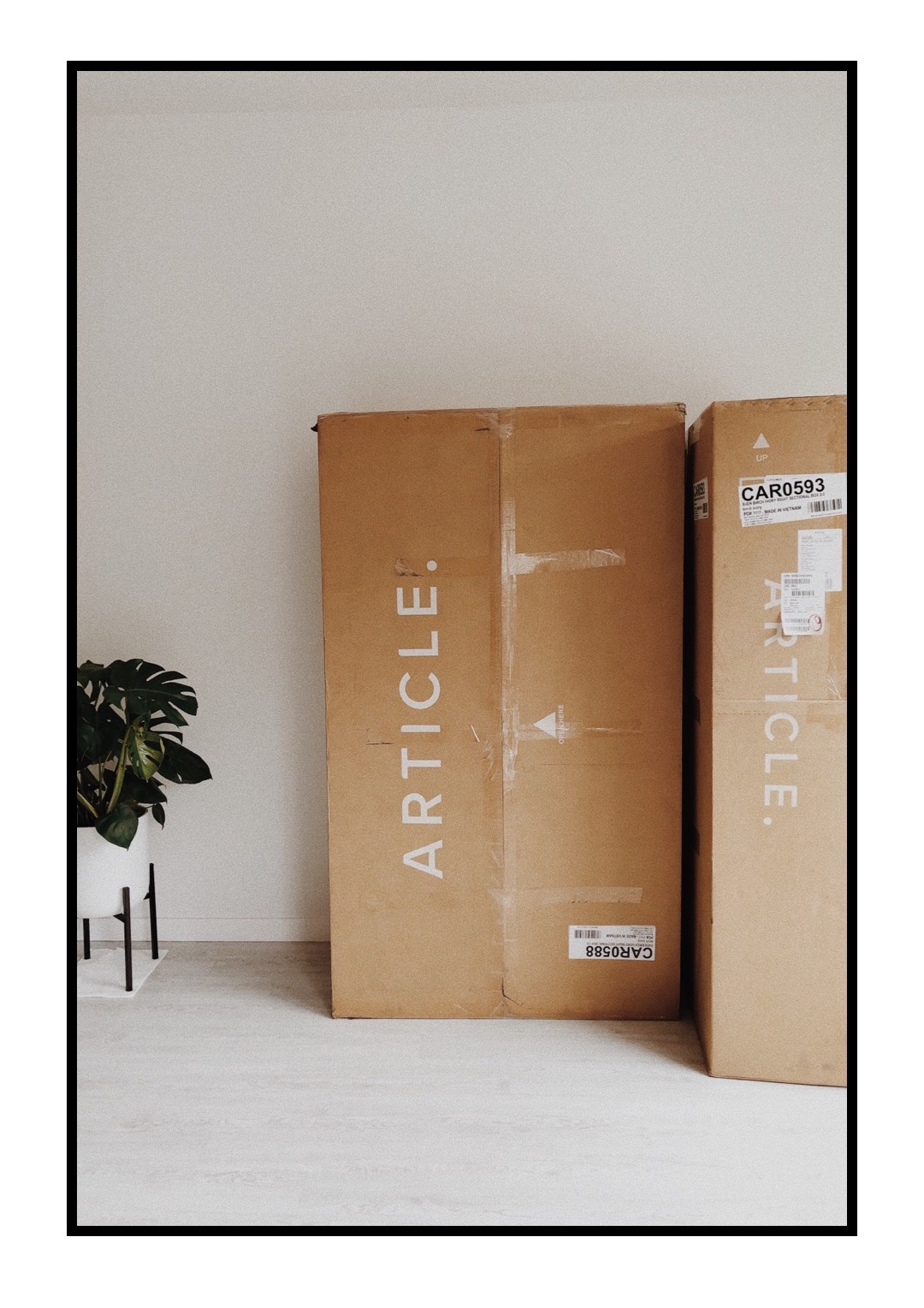 Article Sven Sectional Sofa Birch Ivory Unboxing Review - Love, Minna