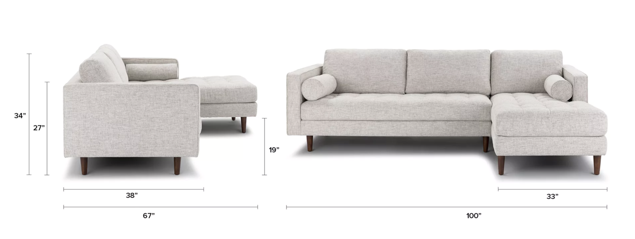 Article Sven Sectional Sofa Birch Ivory Review - Love, Minna