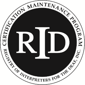 The RID Certificate Maintenance program seal