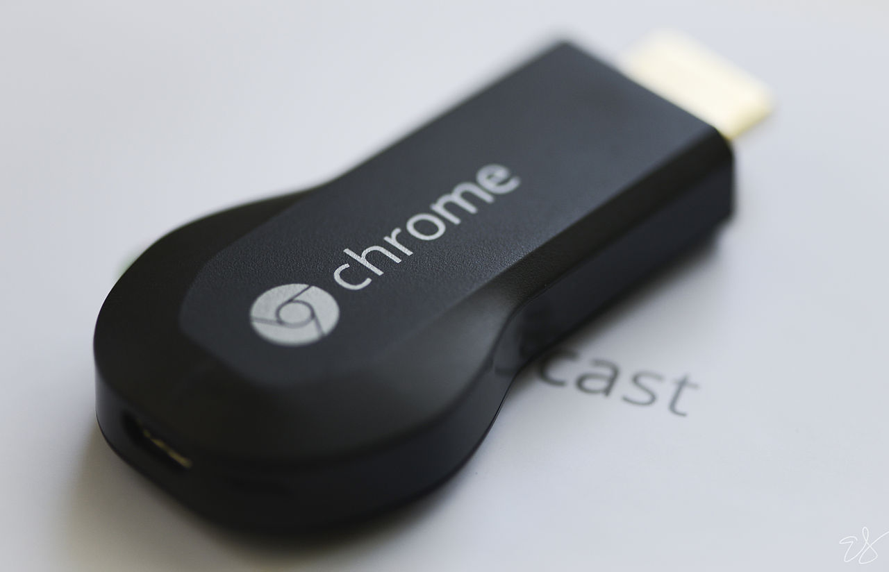 The Chrome cast USB plug in