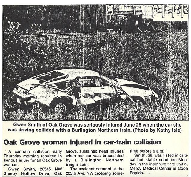 30 years ago today my mother was involved in a terrible car accident with a train. She survived and became the best mother I could have ever asked for. I am sure the person she was before was also equally awesome. The accident took her personality and memories, I hope I never lose the personality traits she has given me and the memories I have of her.